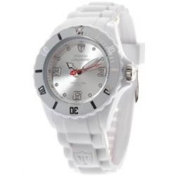 DeTomaso Unisex-Armbanduhr COLORATO White Analog Quarz Silikon DT2012-A