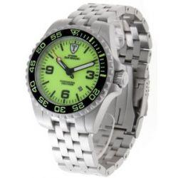 Detomaso Classic Herren-Armbanduhr XL Yellow Analog Automatik Edelstahl
