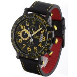 Detomaso Classic Herren-Armbanduhr Rimini Chronograph Yellow