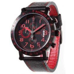 Detomaso Herren-Armbanduhr XL RIMINI DT1002-E Classic Chronograph Quarz Leder DT1002-E