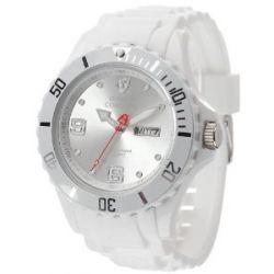 Detomaso Herren-Armbanduhr XL COLORATO DAY & DATE White Trend Analog Quarz Silikon DT2029-B