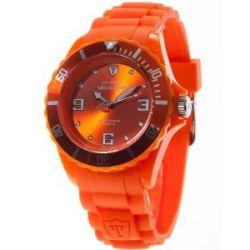 DeTomaso Unisex-Armbanduhr COLORATO Orange Analog Quarz Silikon DT2012-H