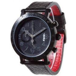 Detomaso Herren-Armbanduhr XL RIMINI DT1002-F Classic Chronograph Leder