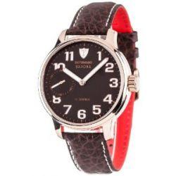 Detomaso Herren-Armbanduhr XL SAVONA Handaufzug Rosegold/Braun Classic Analog Leder DT1028-I