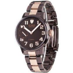 Detomaso Herren-Armbanduhr XL SAVONA Handaufzug Braun/Rosegold Classic Analog Edelstahl DT1028-J