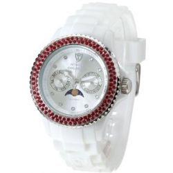 Detomaso Damen-Armbanduhr COLORATO LUNA DT3017-B Ladies Analog Quarz Silikon DT3017-B