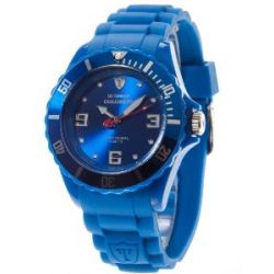 DeTomaso Unisex-Armbanduhr COLORATO Blue Analog Quarz Silikon DT2012-D