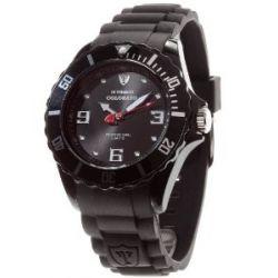 DeTomaso Unisex-Armbanduhr COLORATO Black Analog Quarz Silikon DT2012-B