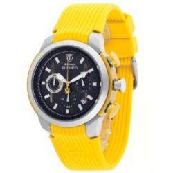 Detomaso Herren-Armbanduhr XL DETOMASO ALESSIO Yellow Silikon Chronograph Quarz Silikon DT2001-E