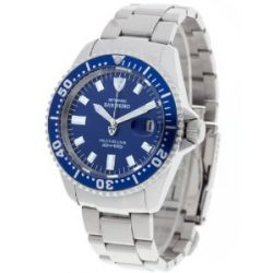Detomaso Herren-Armbanduhr XL DETOMASO SAN REMO Professional Blue Analog Automatik Edelstahl DT1025-H