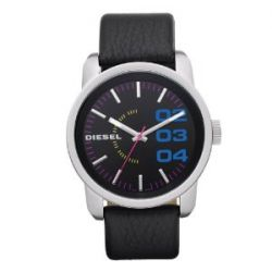 Diesel Herren-Armbanduhr XL Franchise-46 Analog Quarz Leder DZ1514