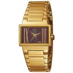 Edc Damen-Armbanduhr lovely heartbreaker - glamorous gold Analog Quarz Edelstahl EE100092004