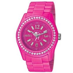 Schmuck edc by Esprit Damen Armbanduhr Disco Glam Afterglow Pink Analog Quarz