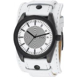 Esprit EE100341007 edc Herrenuhr chillin' dude pure white weiß Lederarmband 30m Analog Uhr