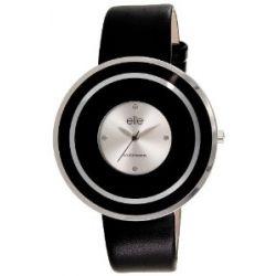 Elite Damen-Armbanduhr E53142-203 Analog Quarz Schwarz E53142-203