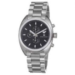 Emporio Armani Herren-Armbanduhr XL Chronograph Quarz Edelstahl beschichtet AR5957