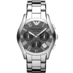 Emporio Armani Herren-Armbanduhr XL Chronograph Quarz verschiedene Materialien AR1465