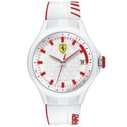 Ferrari Herren-Armbanduhr XL Pit -Crew Analog Quarz Silikon 830127