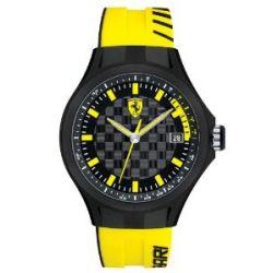 Ferrari Herren-Armbanduhr XL Pit -Crew Analog Quarz Silikon 830126