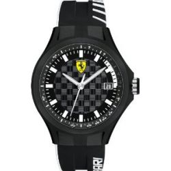 Ferrari Herren-Armbanduhr XL Pit -Crew Analog Quarz Silikon 830125