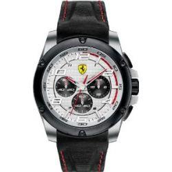 Ferrari Herren-Armbanduhr XL Analog Quarz Leder 830031