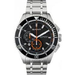 GANT Herren-Armbanduhr XL Seabrook Chrono Analog Quarz Edelstahl W70541