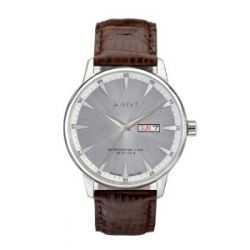 GANT Herren-Armbanduhr XL Analog Quarz Leder W10702