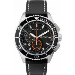 GANT Herren-Armbanduhr XL Seabrook Chrono Analog Quarz Leder W70544