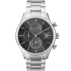 GANT Herren-Armbanduhr XL Vermont Analog Quarz Edelstahl W70404