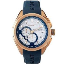 GANT Herren-Armbanduhr XL Milford Analog Quarz Silikon W105814