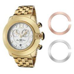 Glam Rock Unisex-Armbanduhr Analog edelstahl Gold 0.96.2269