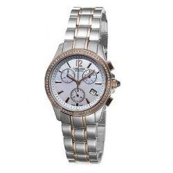 Golana Aura Pro Swiss Made Ladies Chronograph Diamond Set Watch AU250-4