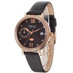 Haas & Cie Damen-Armbanduhr Analog Quarz Leder FPC432LBA