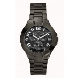 Guess Herren-Armbanduhr XL Analog Edelstahl W11010G1