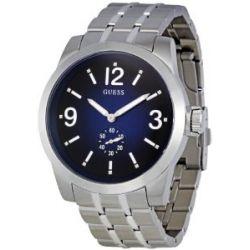 Guess Herren-Armbanduhr XL Analog Quarz Edelstahl W13571G2