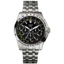 Guess Herren-Armbanduhr XL Analog Edelstahl W16015G1
