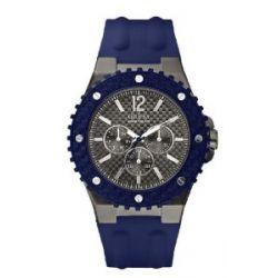 Guess Herren-Armbanduhr XL OVERDRIVE Analog Quarz Kautschuk W11619G2