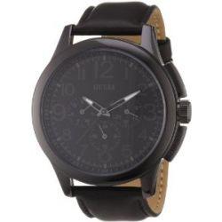 Guess Herren-Armbanduhr XL Journey Chronograph Leder W11585G1