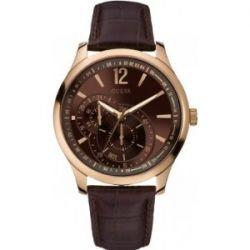 Guess Herren-Armbanduhr XL Analog Leder W95086G1
