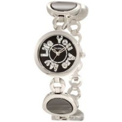 Haurex Italy Damenuhr You Are My Life Black Dial Ceramic Watch #XA349DNN