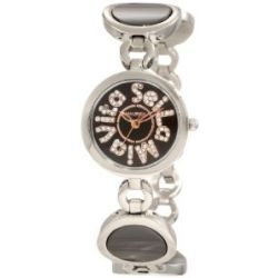 Haurex Italy Damenuhr Seila Mia Vita Black Dial Ceramic Watch #XA349DNH