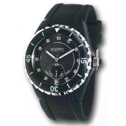 Haurex Italy Damenuhr Riviera Mother-of-Pearl Black Dial Watch #1N337DNS