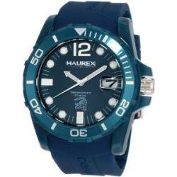 Haurex Italy Herren-Armbanduhr XL Caimano Analog Kautschuk B1354UBB