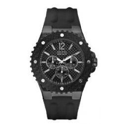 Guess Herren-Armbanduhr XL Overdrive Multifunktion Analog Quarz Silikon W11619G1