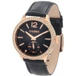Haurex Italy Damenuhr Grand Class Black Dial Watch #FH341DNH