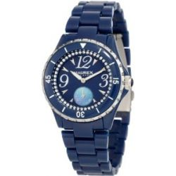 Haurex Italy Damenuhr Make Up Blue Dial Piastceamic Watch #PB342DBS
