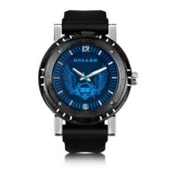 Holler Herren-Armbanduhr Holler Black Magic Blue Analog plastik schwarz HLW2197-2