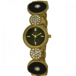 Henley Damen-Armbanduhr Henley Ladies Crystal Set Art Deco Watch Analog Edelstahl beschichtet mehrfarbig H07172.2