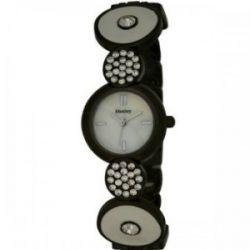 Henley Damenuhr , Crystal Set Art Deco Armband, White & Gunmetal H07172.3