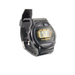 Talking Watch black, Deutsche Sprache, Sprechende LCD-Uhr schwarz, Armbanduhr, clock, watch, chronometer, Uhr mit Zeitansage, Sprachausgabe